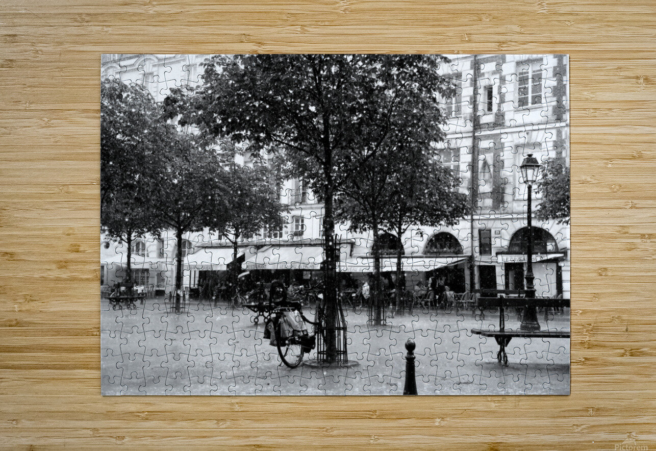 Place du Marche Sainte Catherine  HD Metal print with Floating Frame on Back