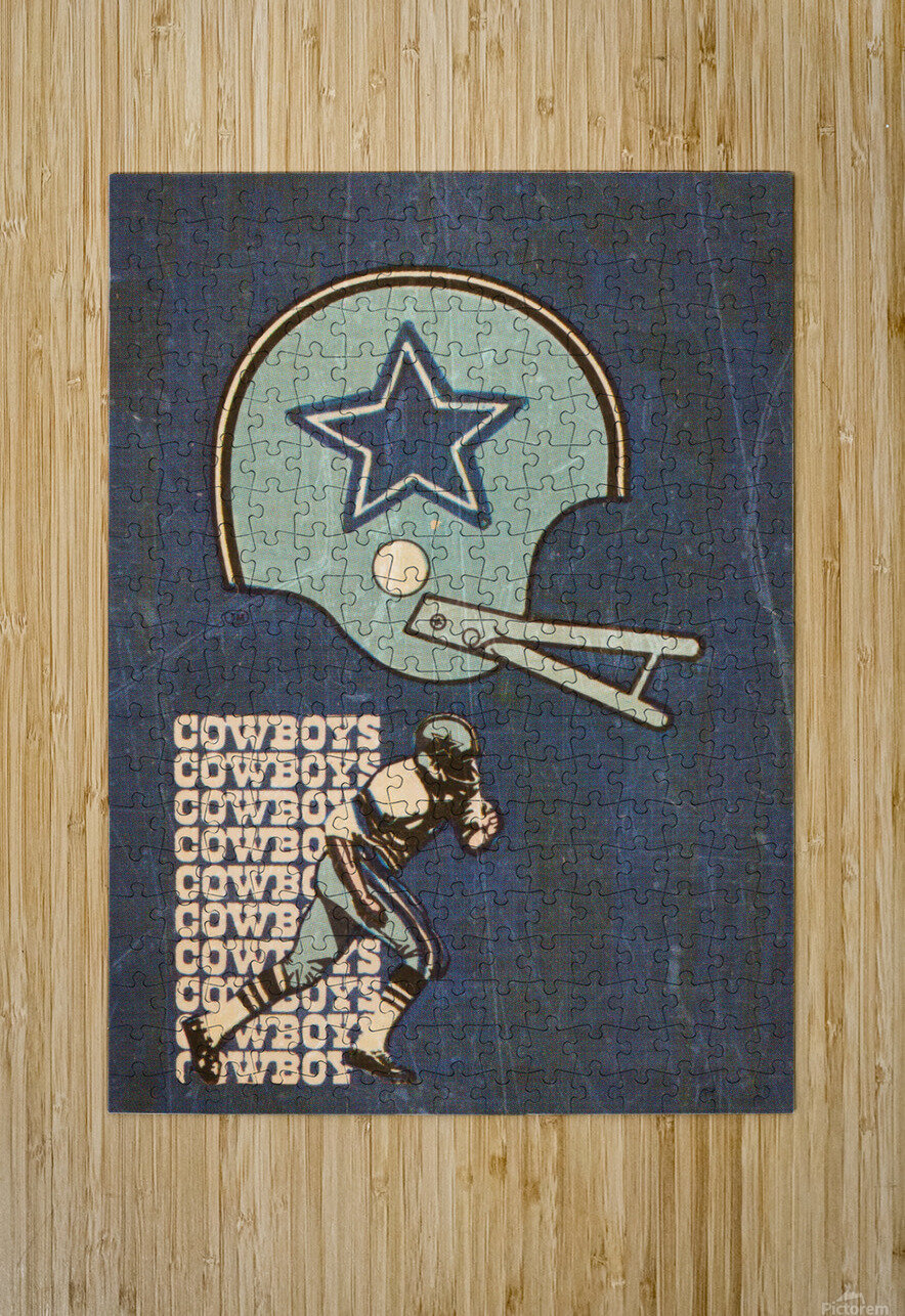 1976 Dallas Cowboys Wall Art  HD Metal print with Floating Frame on Back