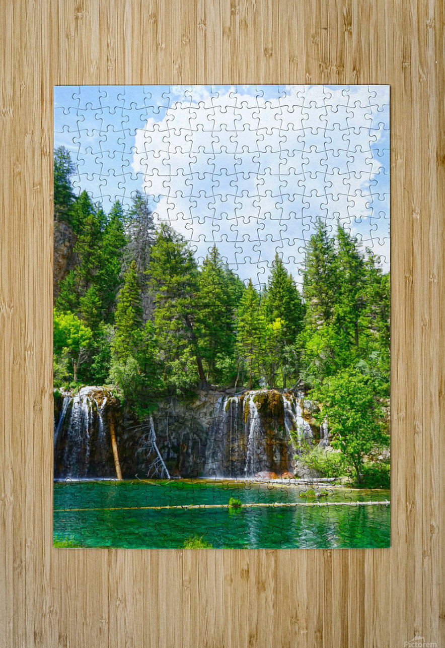 Back Country Waterfalls  HD Metal print with Floating Frame on Back