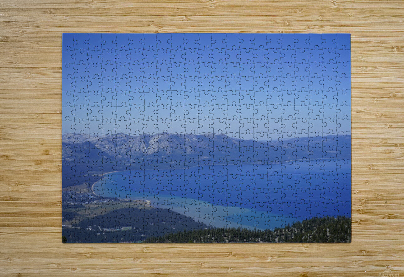 Lake Tahoe View  HD Metal print with Floating Frame on Back
