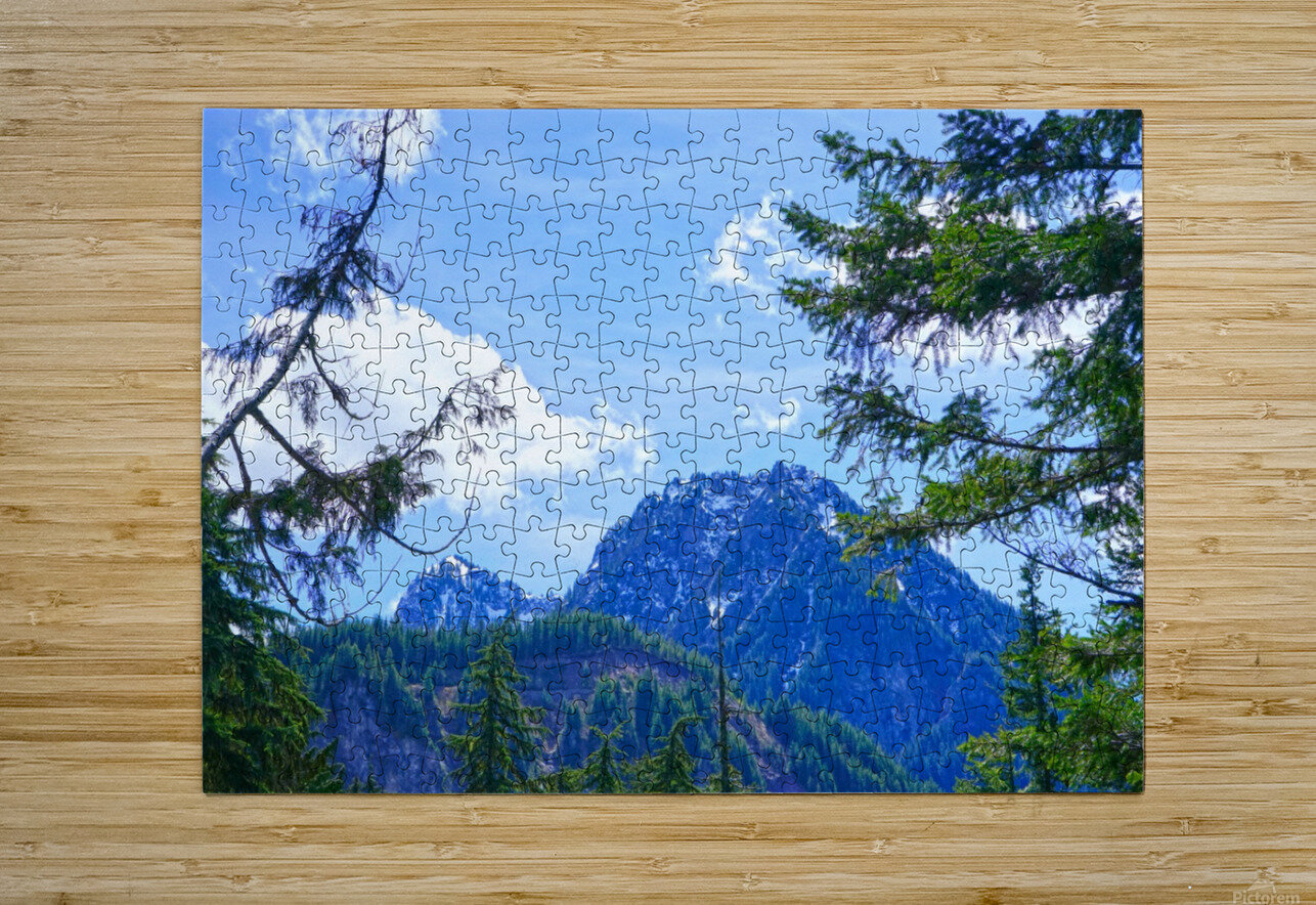 The Cascades  HD Metal print with Floating Frame on Back