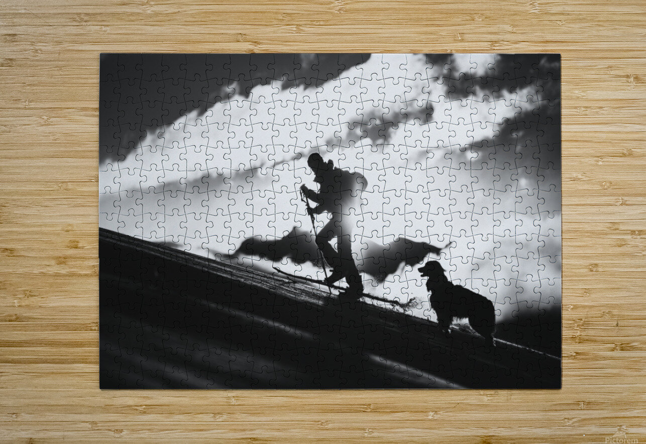 Going up  HD Metal print with Floating Frame on Back