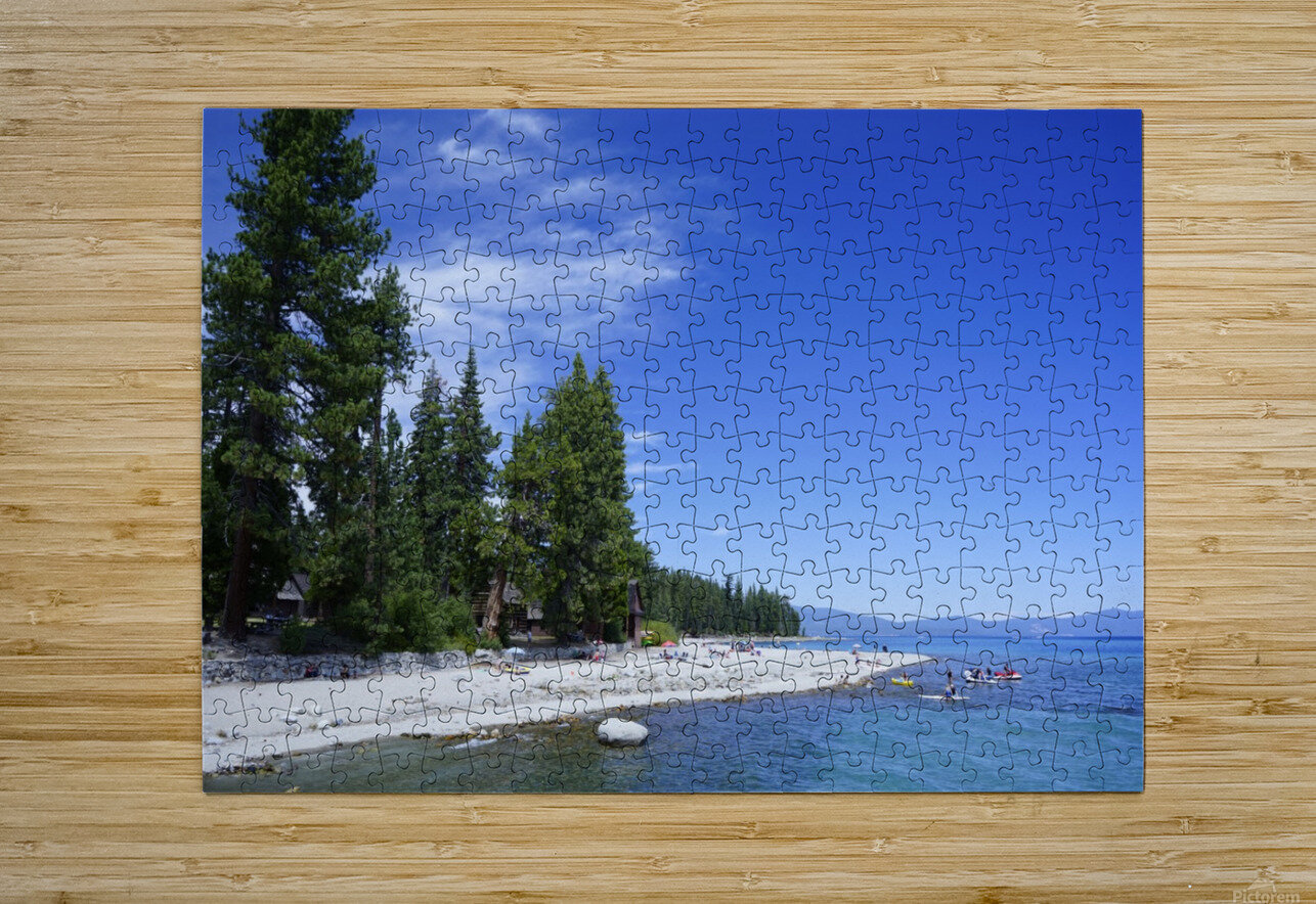 Spring at Lake Tahoe 2 of 7  HD Metal print with Floating Frame on Back