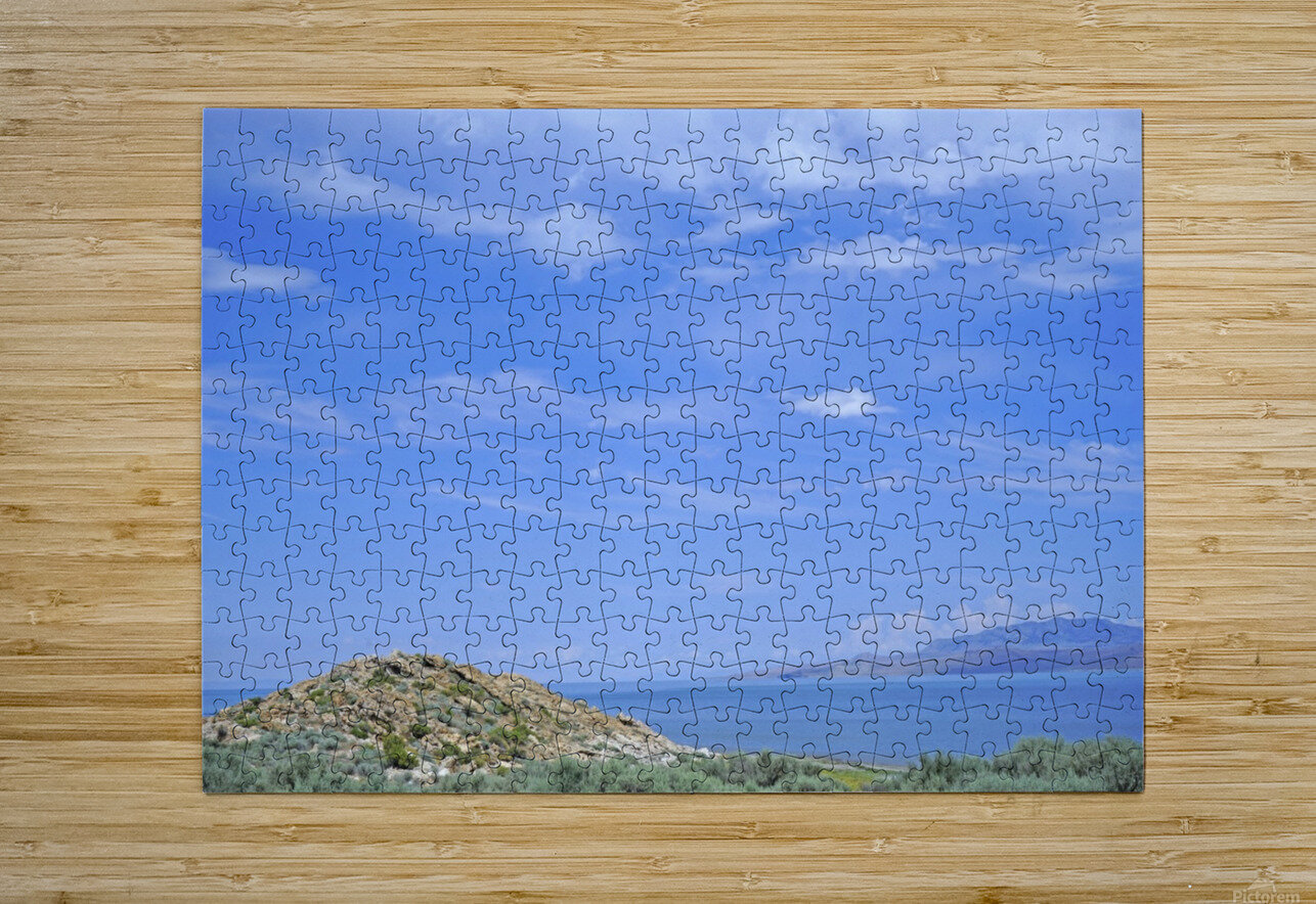 The Great Salt Lake 2 of 7  HD Metal print with Floating Frame on Back