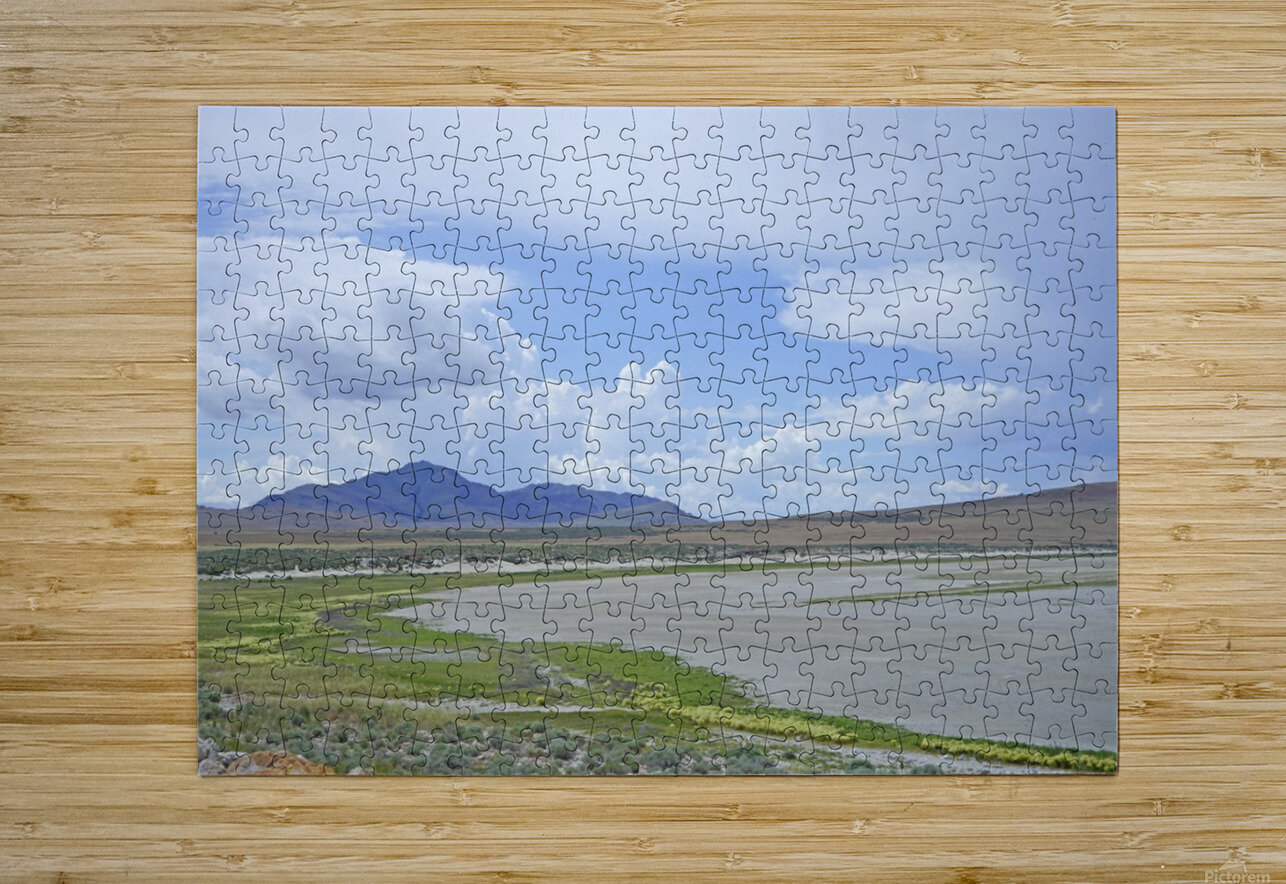 The Great Salt Lake 3 of 7  HD Metal print with Floating Frame on Back