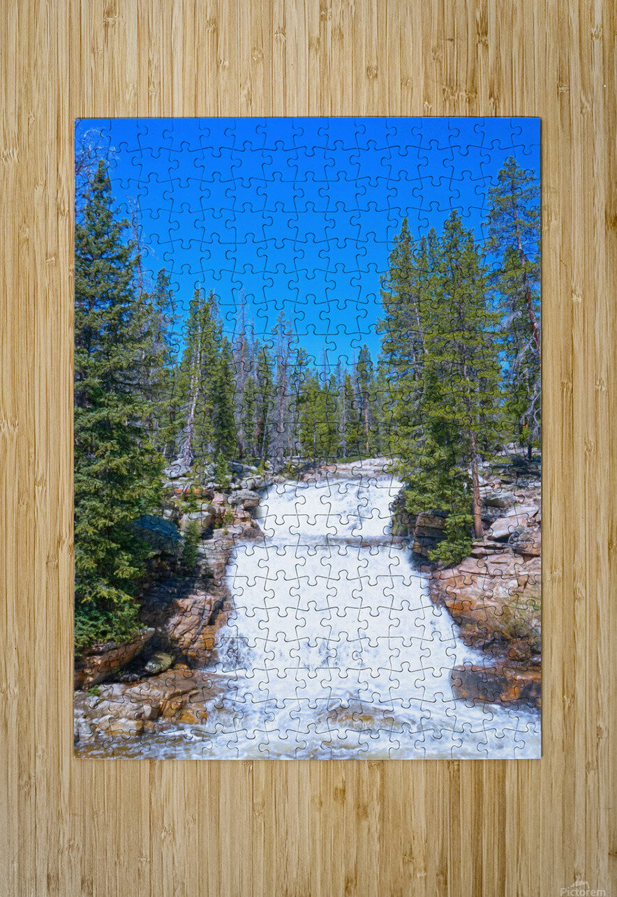 On The Road to Mirror Lake 1 of 5  HD Metal print with Floating Frame on Back