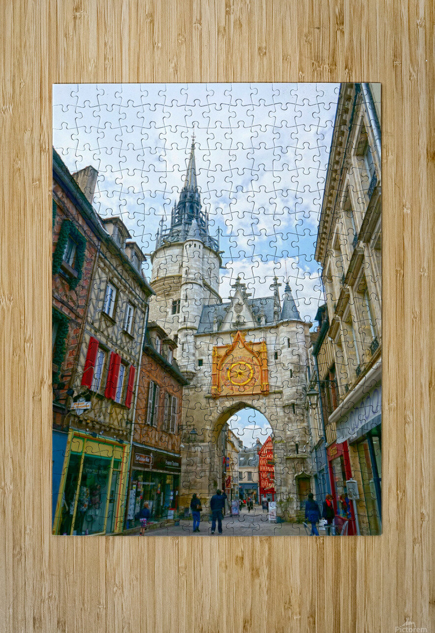 Auxerre France Snapshot in Time  HD Metal print with Floating Frame on Back