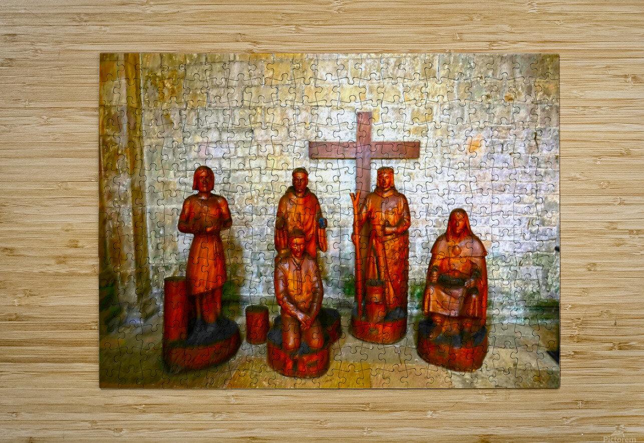 Basilica of Sainte Marie Madeleine 5 of 5 @  Vezelay France  HD Metal print with Floating Frame on Back