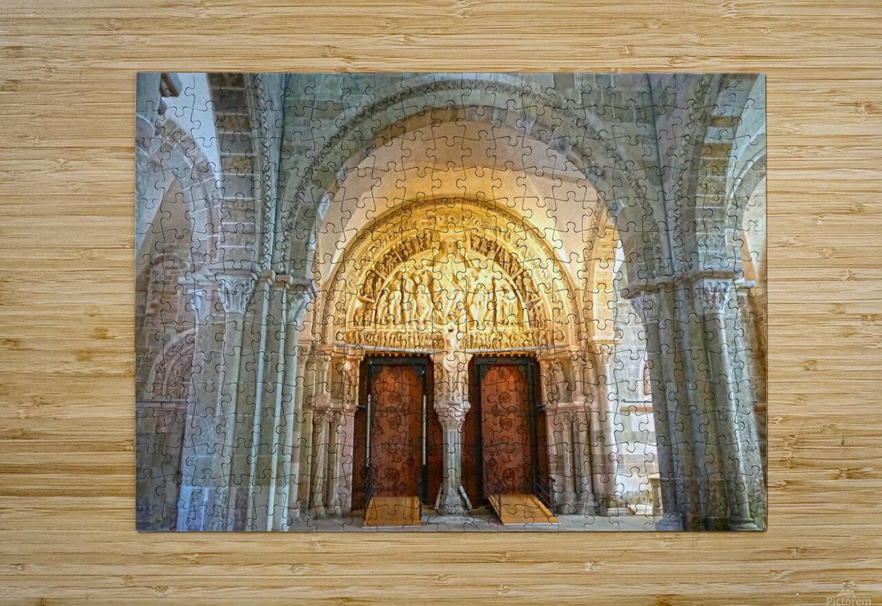 Basilica of Sainte Marie Madeleine 3 of 5 @  Vezelay France  HD Metal print with Floating Frame on Back