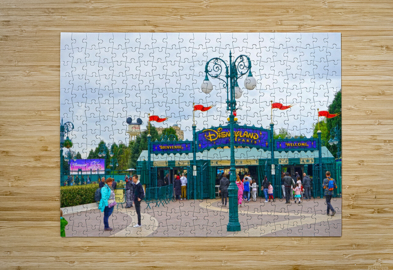 Paris Disneyland 1 of 4  HD Metal print with Floating Frame on Back