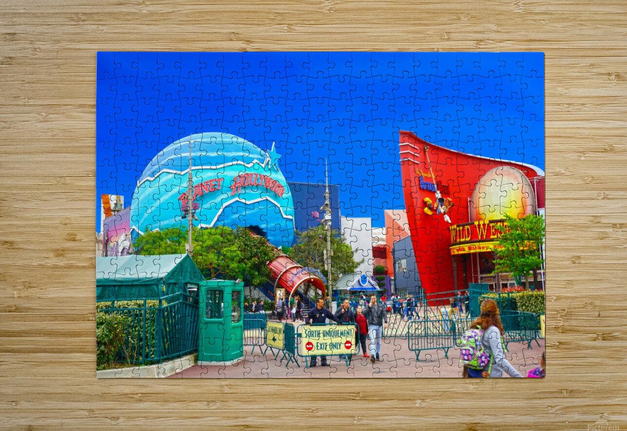 Paris Disneyland 2 of 4  HD Metal print with Floating Frame on Back