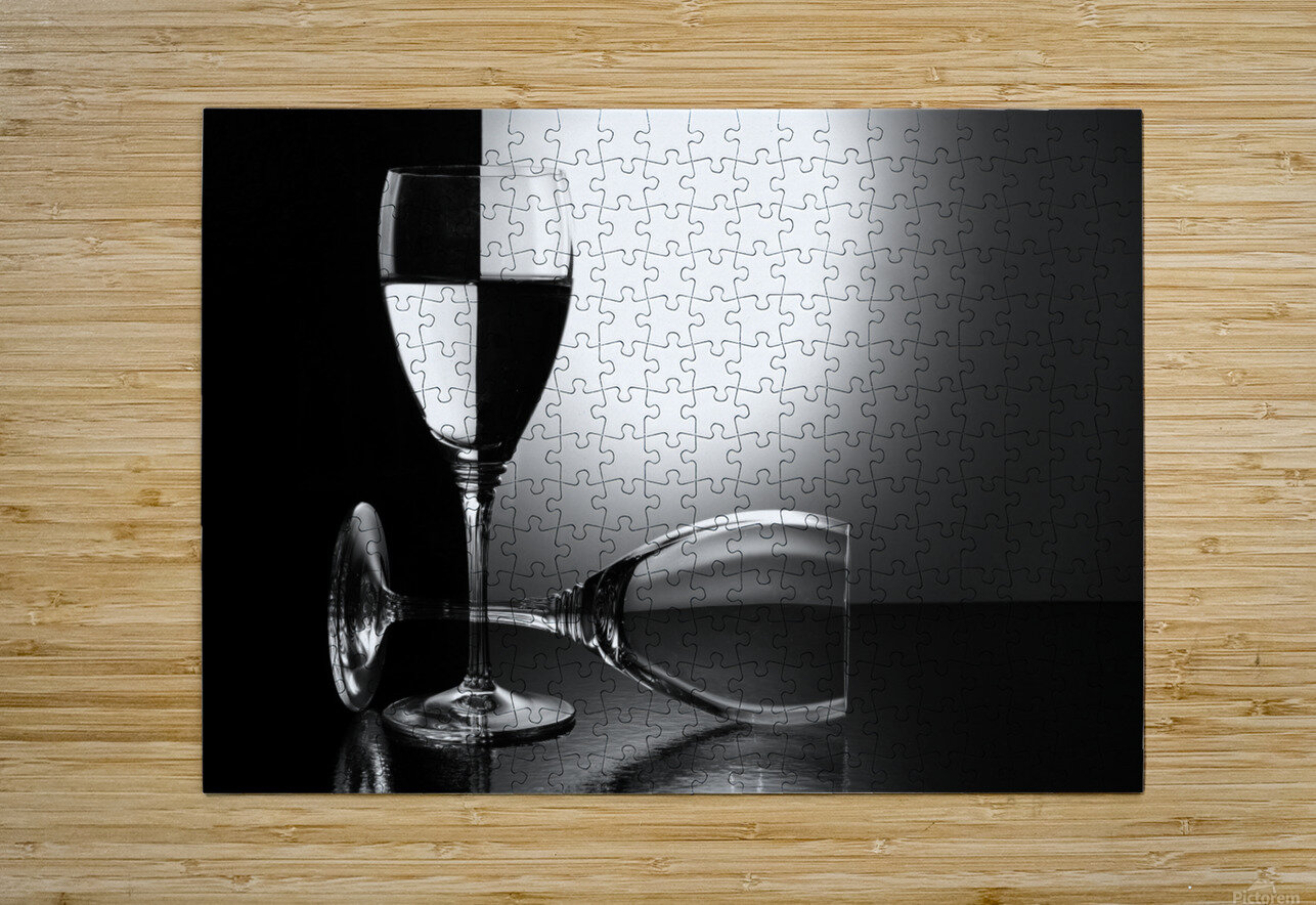 Glasses by madras91    HD Metal print with Floating Frame on Back