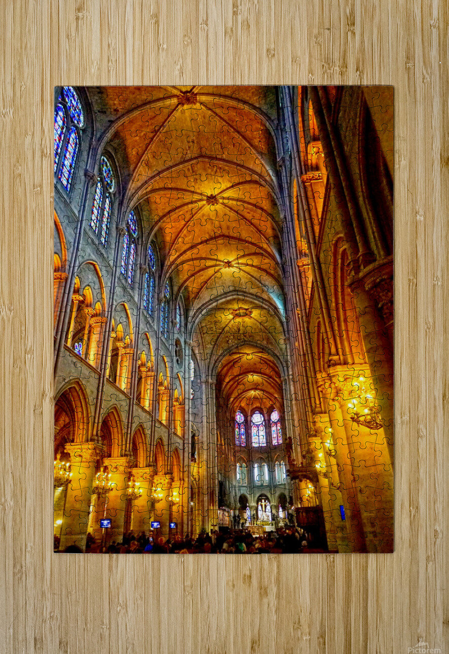 Jeanne d Arc and Saint Croix Cathedral at Orleans   France 2 of 7  HD Metal print with Floating Frame on Back