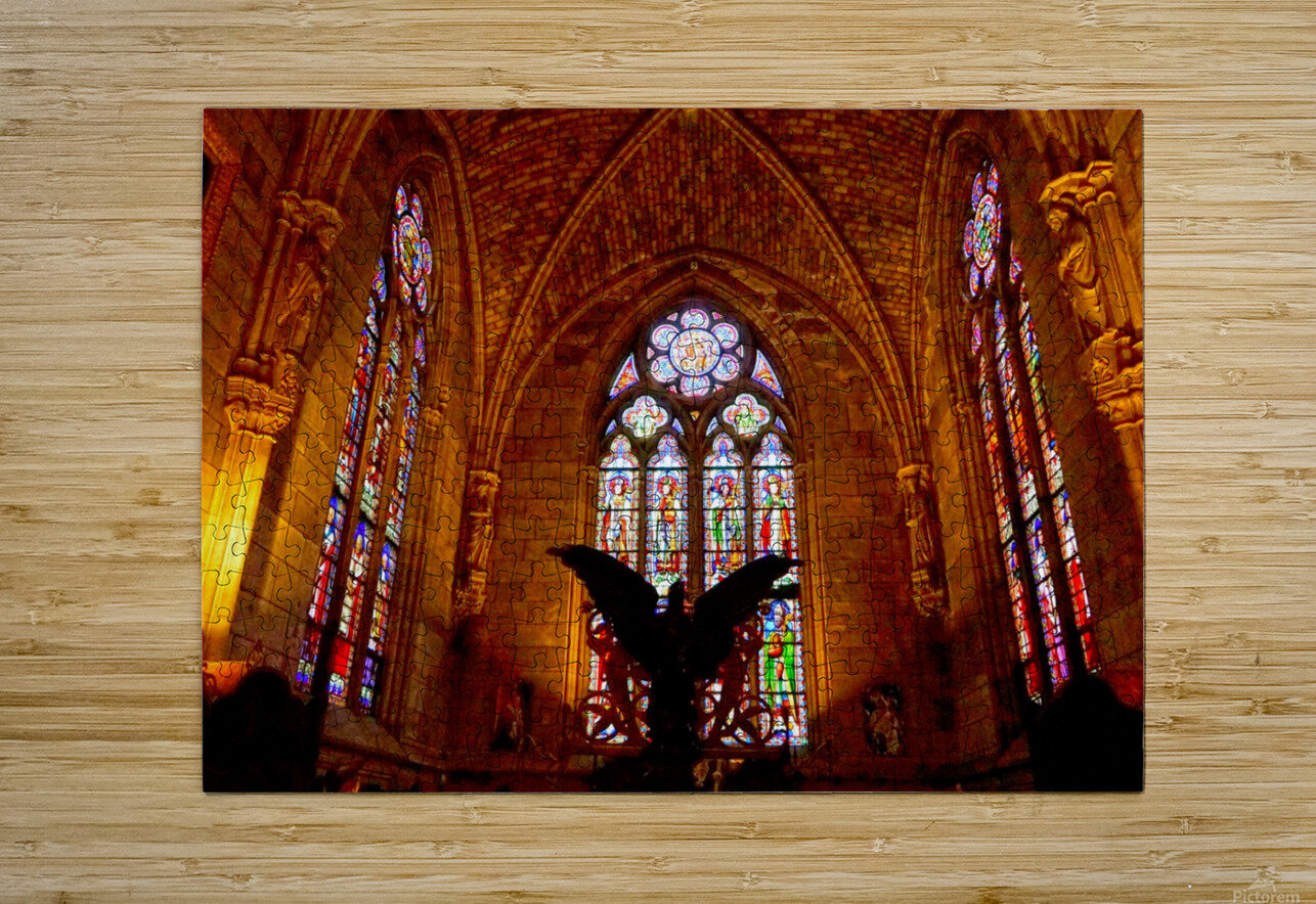 Jeanne d Arc and Saint Croix Cathedral at Orleans   France 5 of 7  HD Metal print with Floating Frame on Back