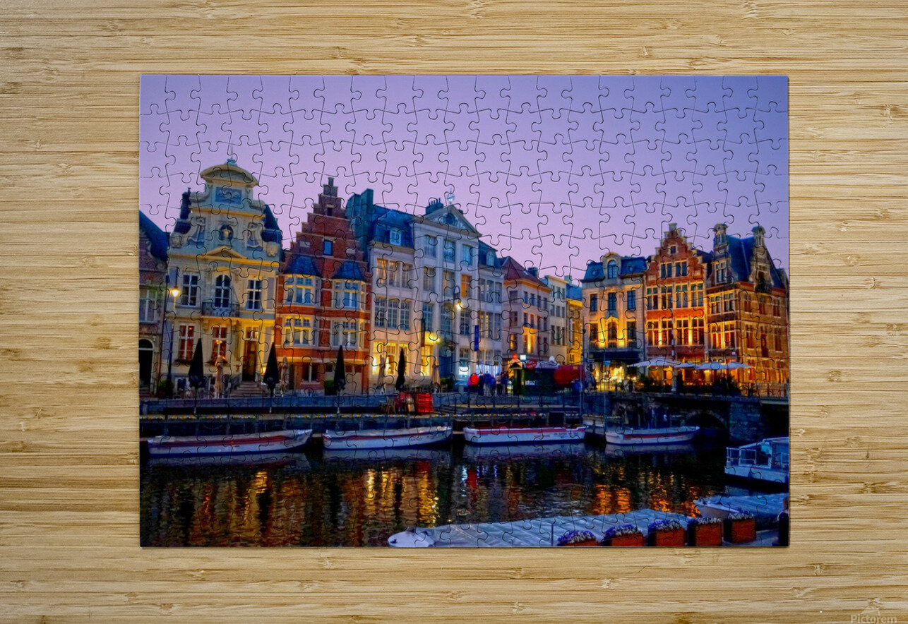 I Dreamed of Belgium  HD Metal print with Floating Frame on Back