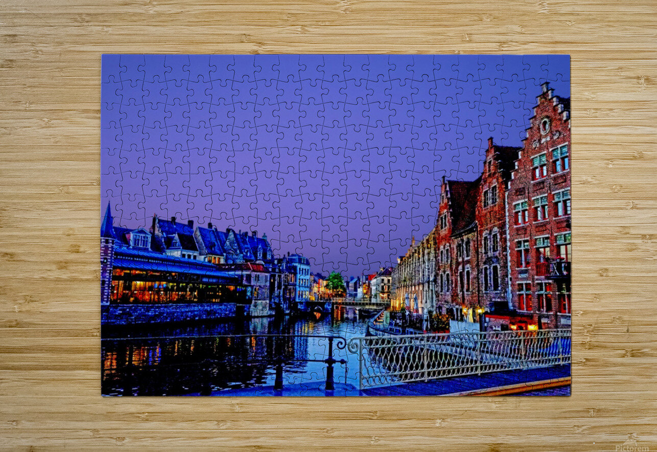Wondrous Belgium  HD Metal print with Floating Frame on Back