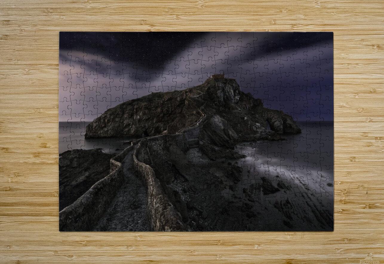One Night in Gaztelugatxe by Fran Osuna   HD Metal print with Floating Frame on Back