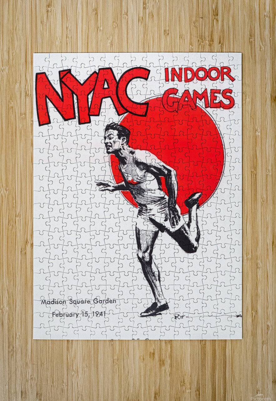 1941 New York Indoor Games  HD Metal print with Floating Frame on Back