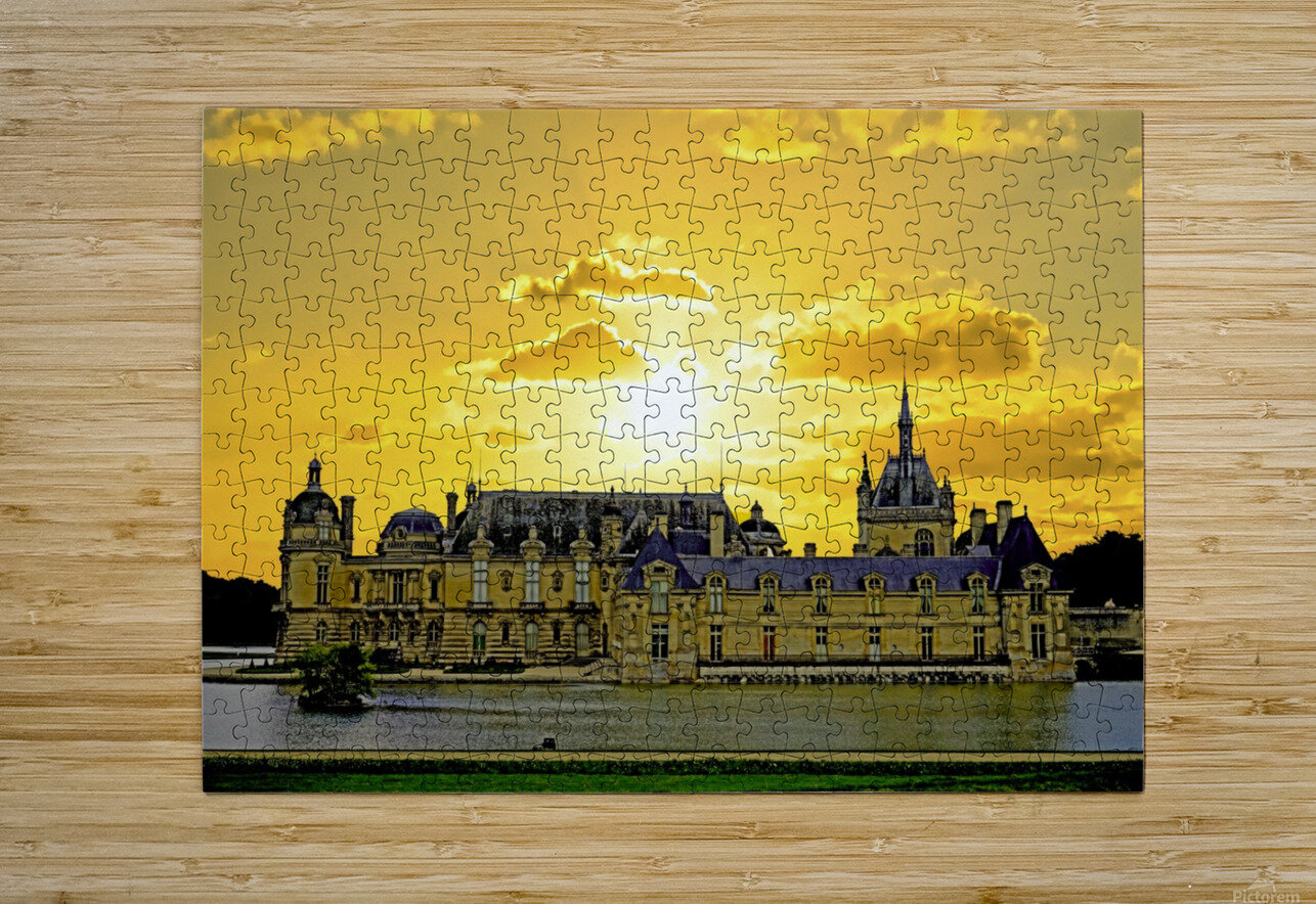 Chateau de Fontainebleau  HD Metal print with Floating Frame on Back