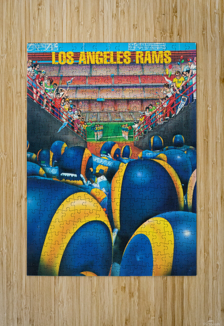 1984 Los Angeles Rams Enter The Field  HD Metal print with Floating Frame on Back