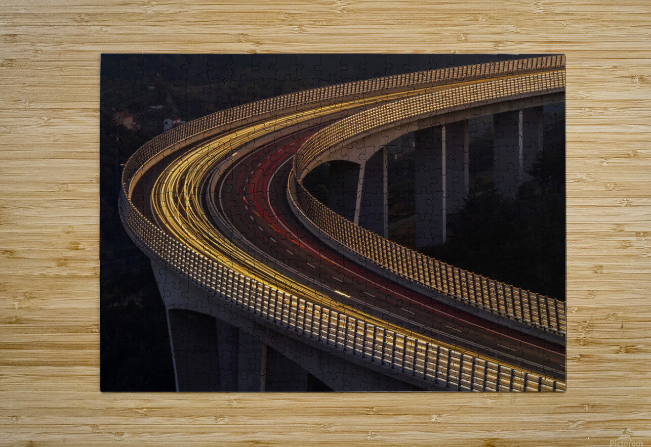Viadukt AŒrni Kal by Jaka Ivancic   HD Metal print with Floating Frame on Back
