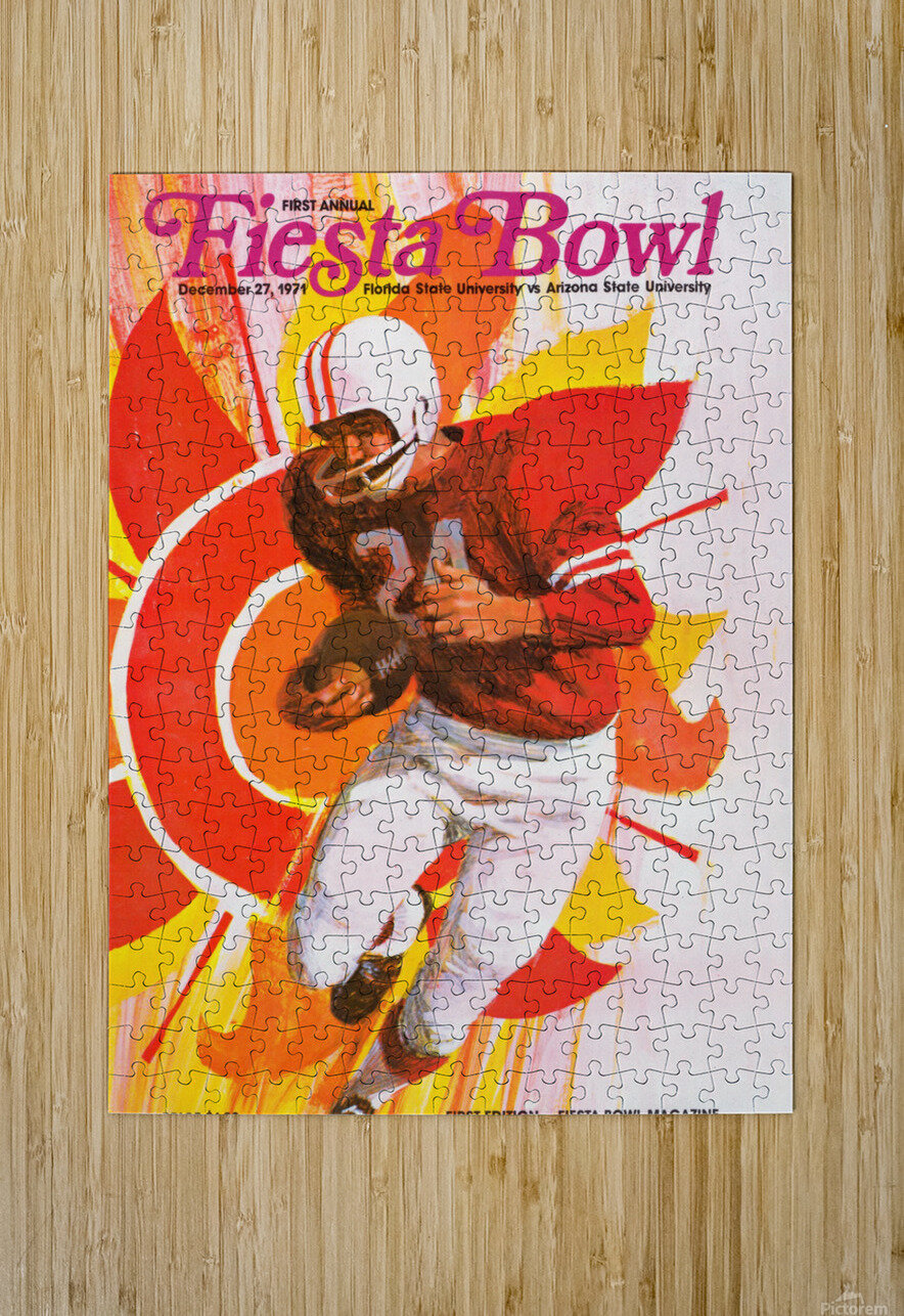 1971 First Fiesta Bowl Program  HD Metal print with Floating Frame on Back