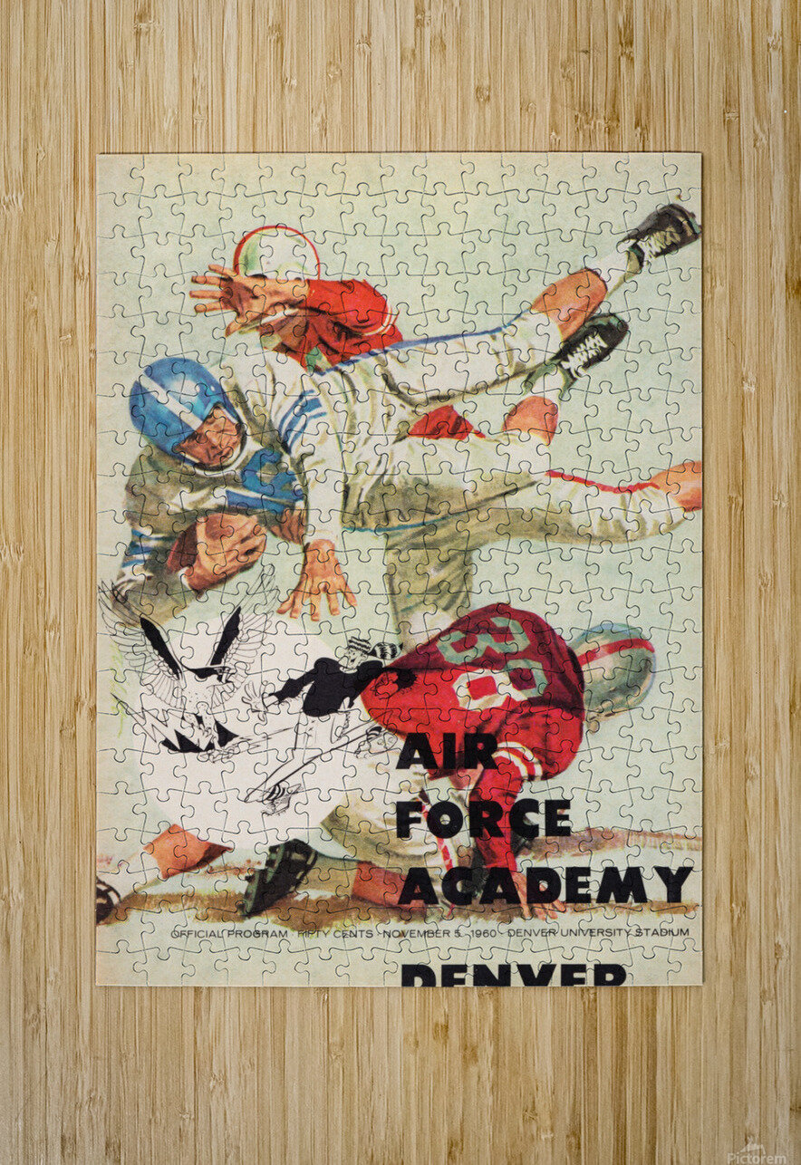 1961 Air Force vs. Denver  HD Metal print with Floating Frame on Back