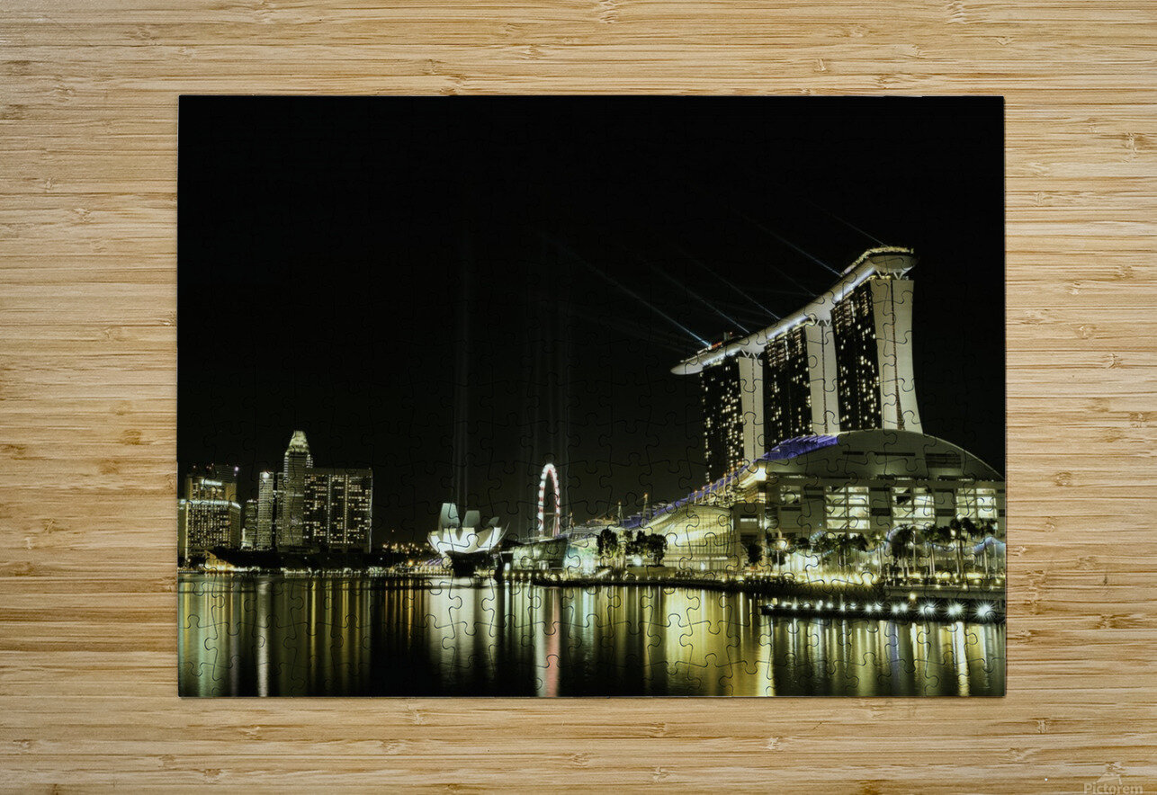 Night in the City by hardibudi    HD Metal print with Floating Frame on Back