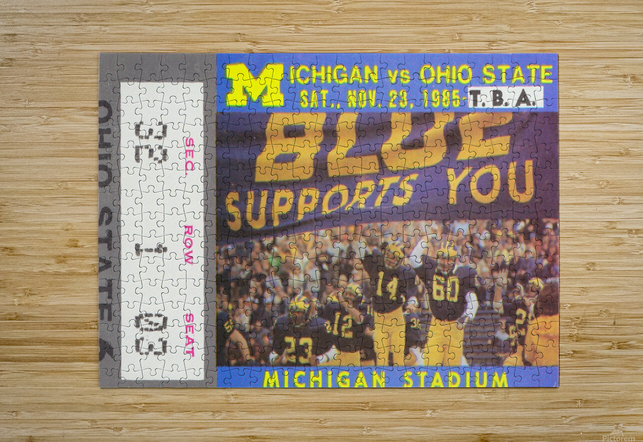 1985 Michigan vs. Ohio State  HD Metal print with Floating Frame on Back