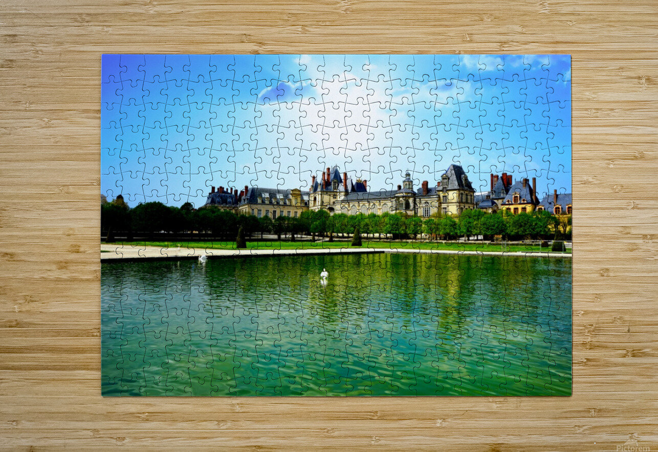 Chateaus of France  HD Metal print with Floating Frame on Back