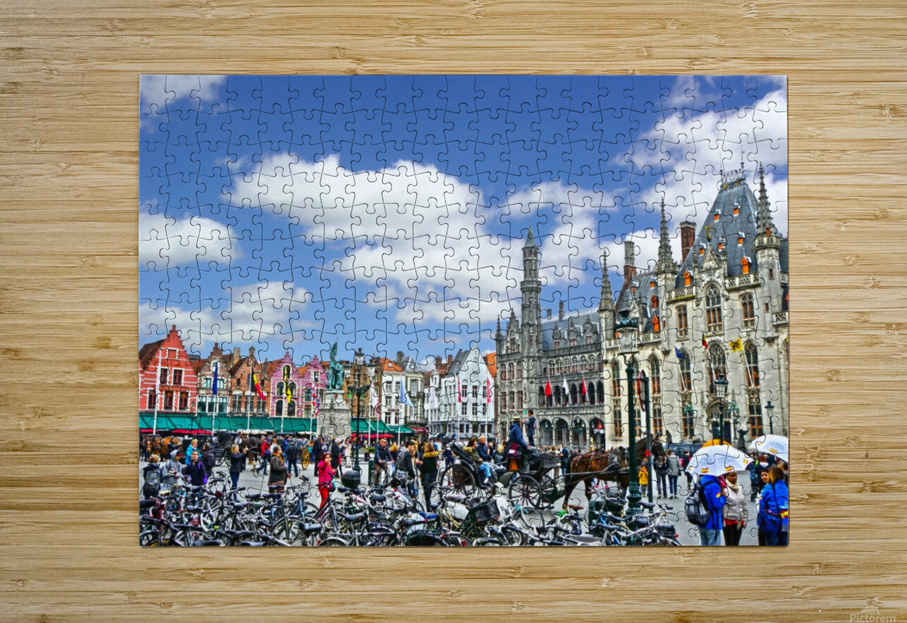 Passport to Belgium 1 of 5  HD Metal print with Floating Frame on Back