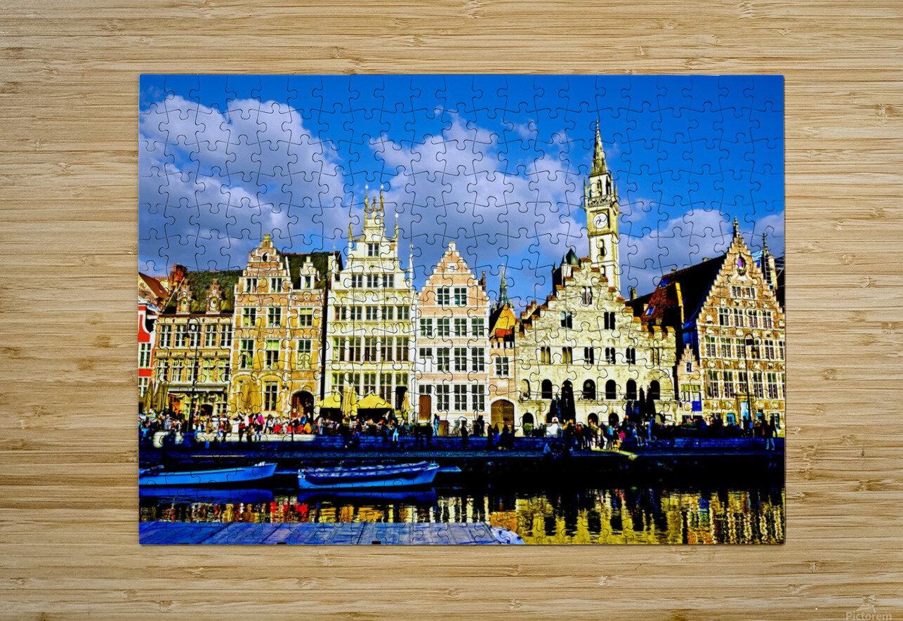 Passport to Belgium 3 of 5  HD Metal print with Floating Frame on Back