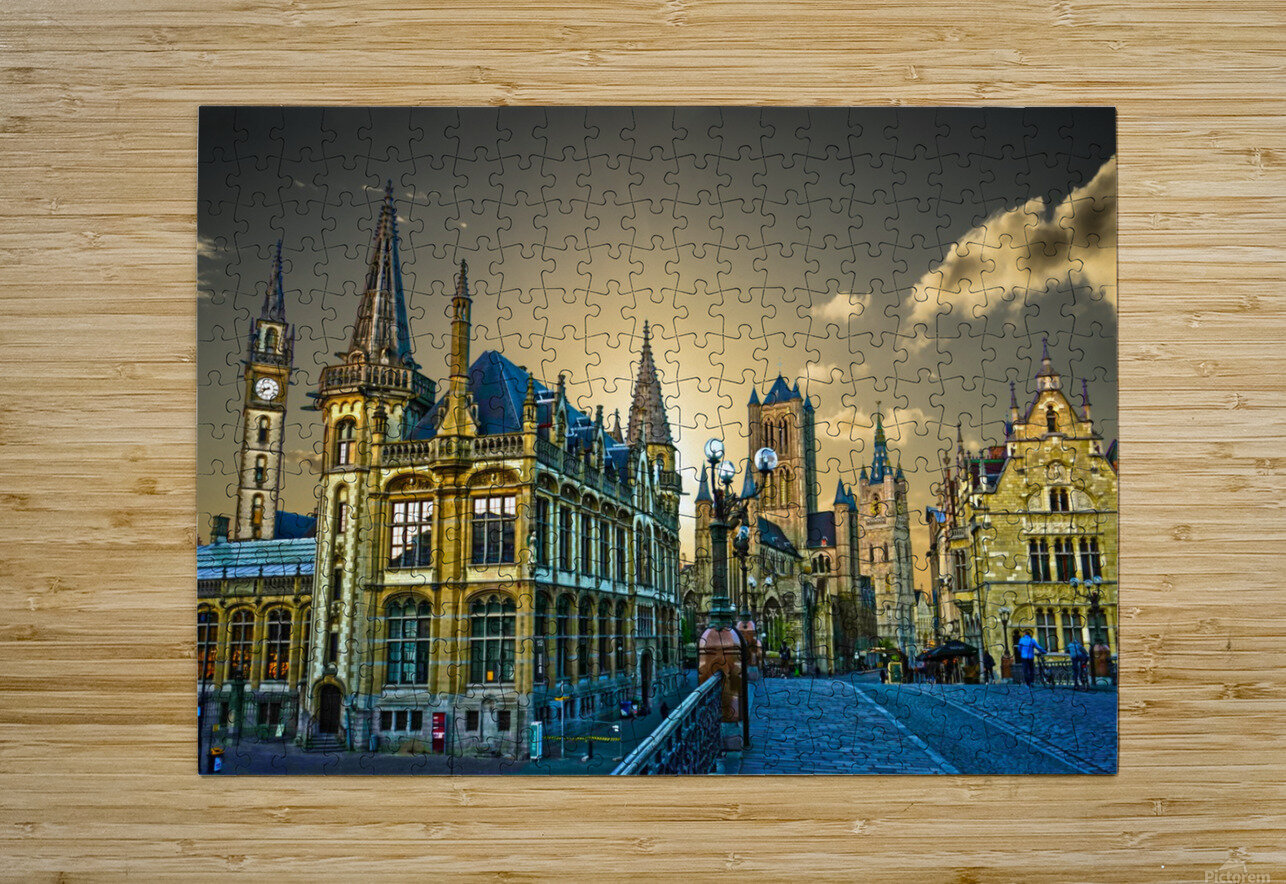 Passport to Belgium 2 of 5  HD Metal print with Floating Frame on Back