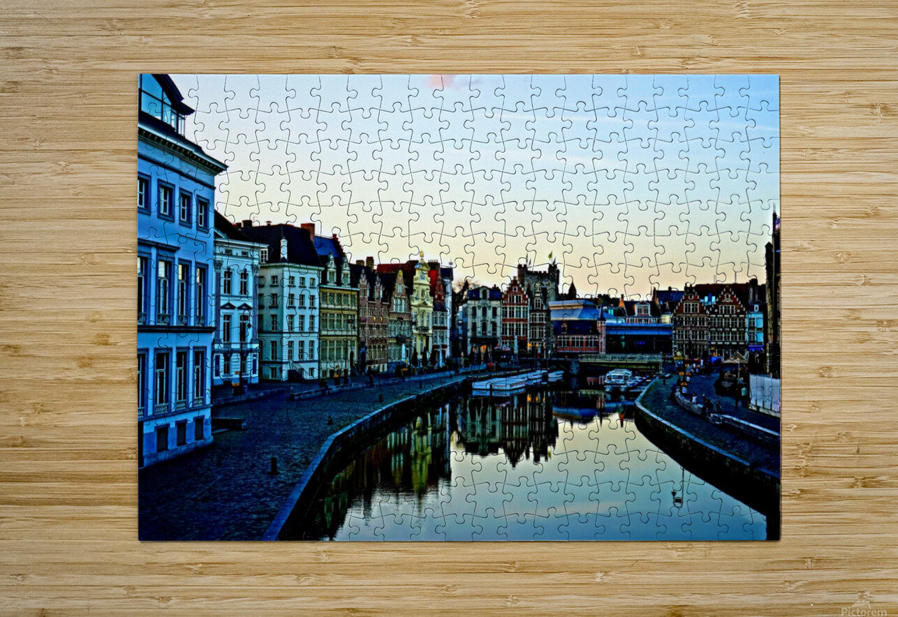 Passport to Belgium 4 of 5  HD Metal print with Floating Frame on Back