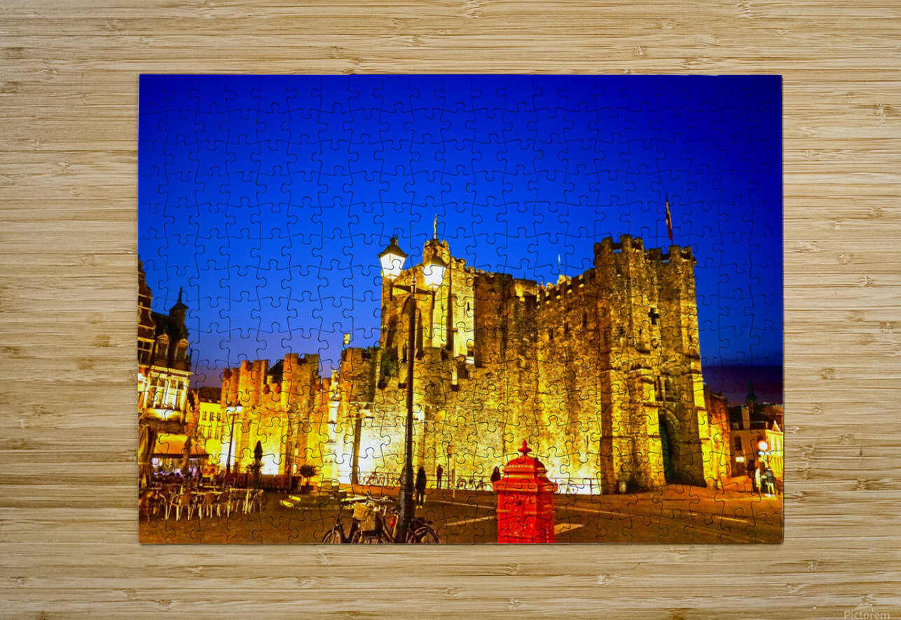 Passport to Belgium 5 of 5  HD Metal print with Floating Frame on Back