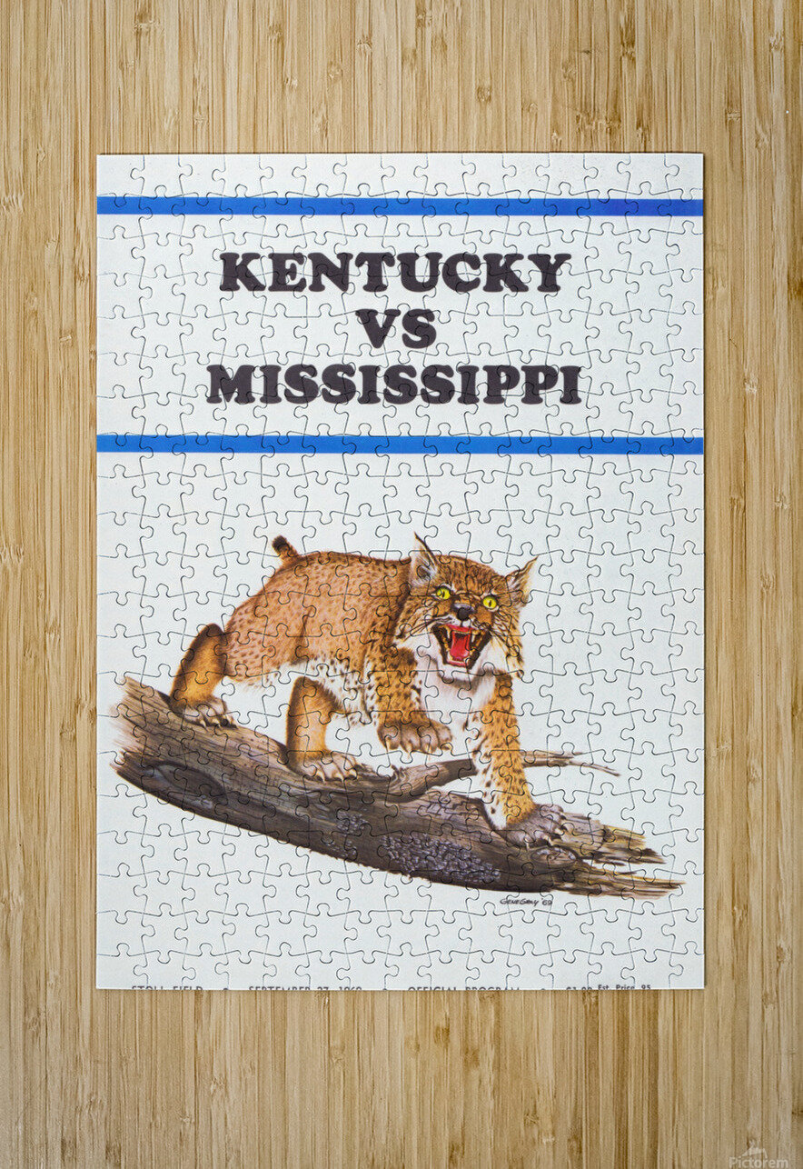 1969 Kentucky vs. Mississippi  HD Metal print with Floating Frame on Back