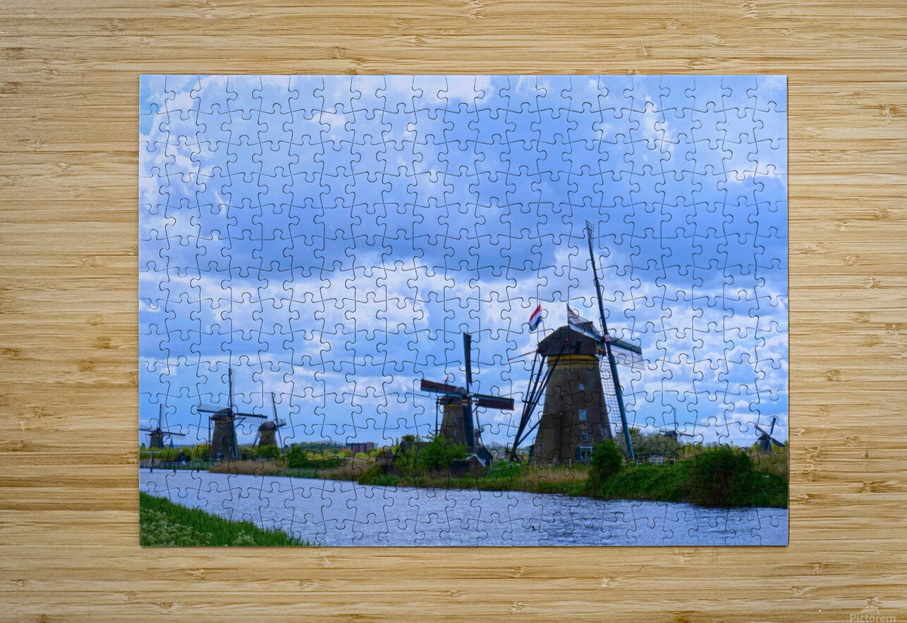 Windmills of the Netherlands 1 of 4  HD Metal print with Floating Frame on Back