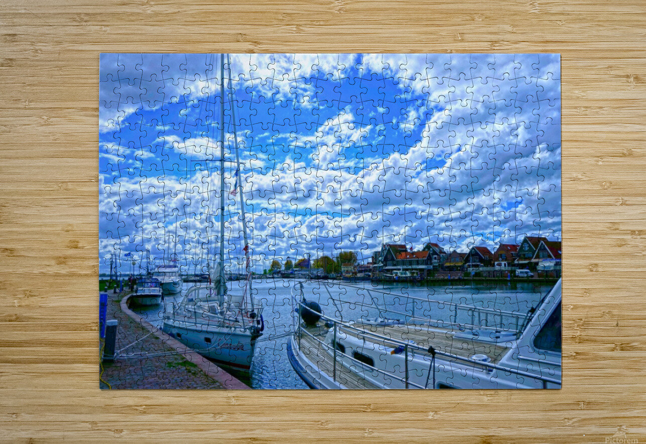Inland Harbor Netherlands 2 of 5  HD Metal print with Floating Frame on Back