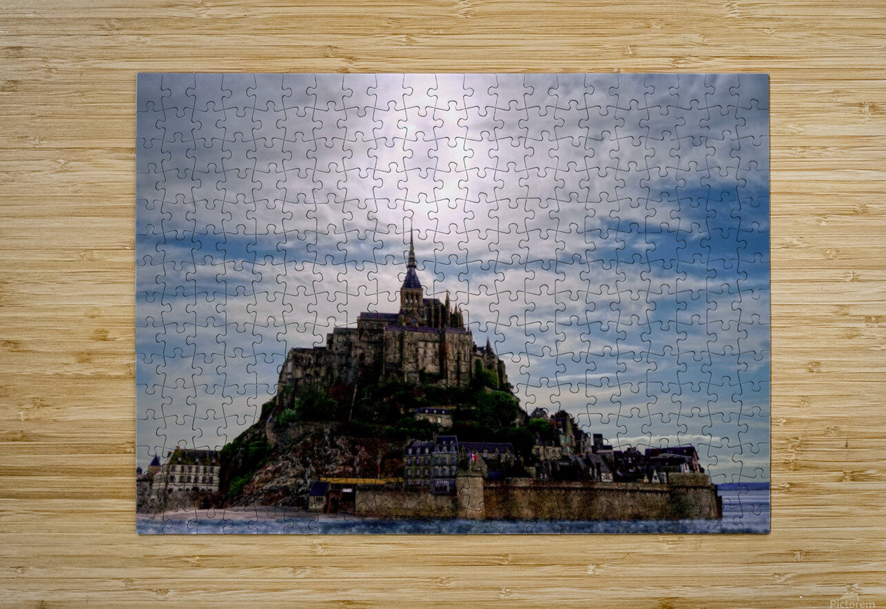 Mount Saint Michael The Fires of Heaven  HD Metal print with Floating Frame on Back