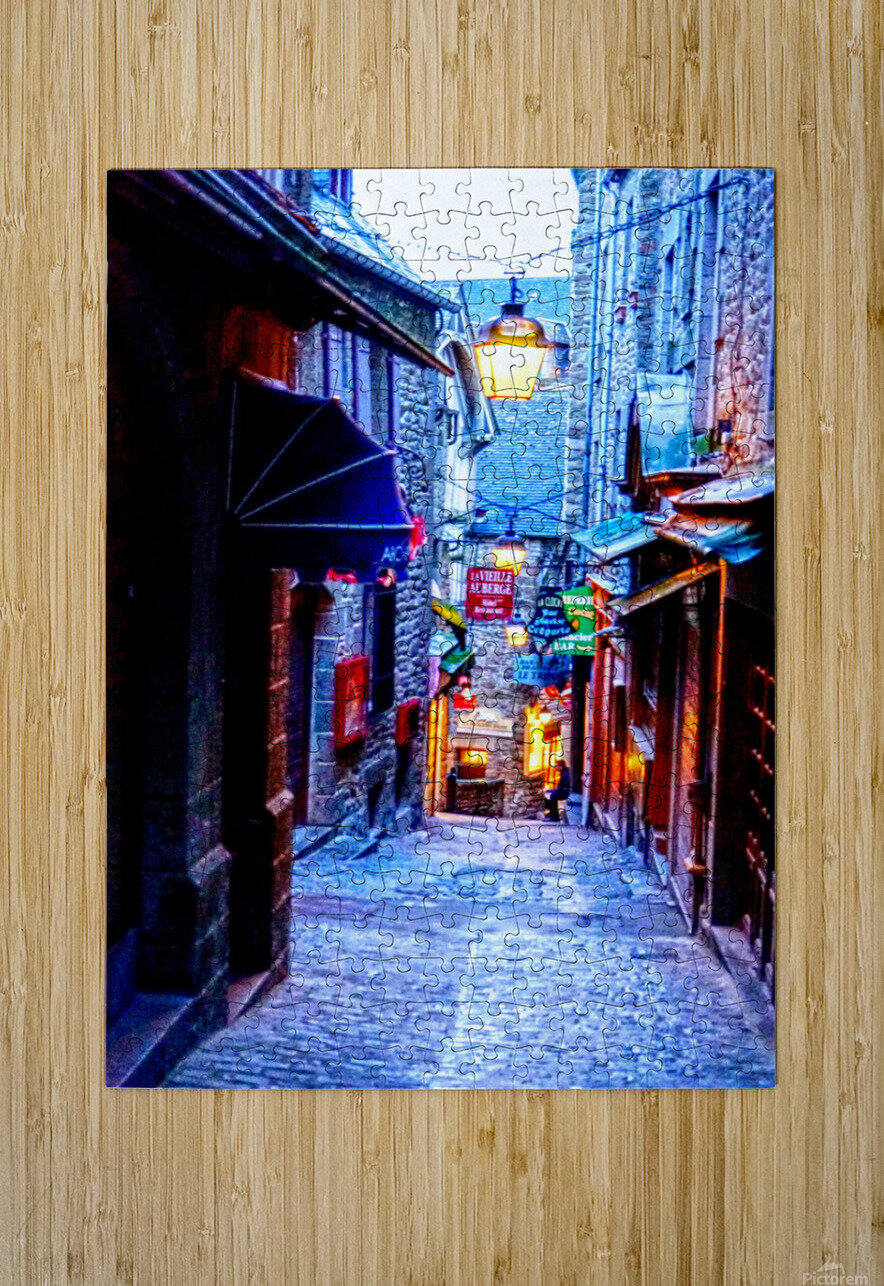 A Day at Mont Saint Michel 2 of 12  HD Metal print with Floating Frame on Back