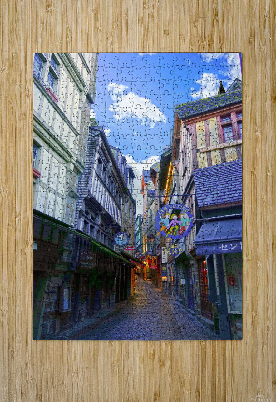 A Day at Mont Saint Michel 3 of 12  HD Metal print with Floating Frame on Back