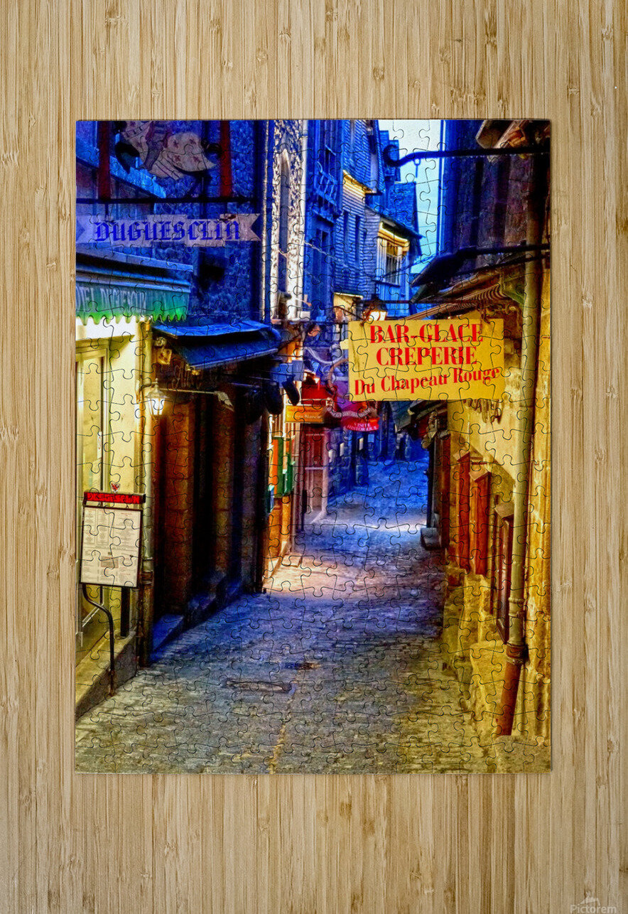 A Day at Mont Saint Michel 4 of 12  HD Metal print with Floating Frame on Back