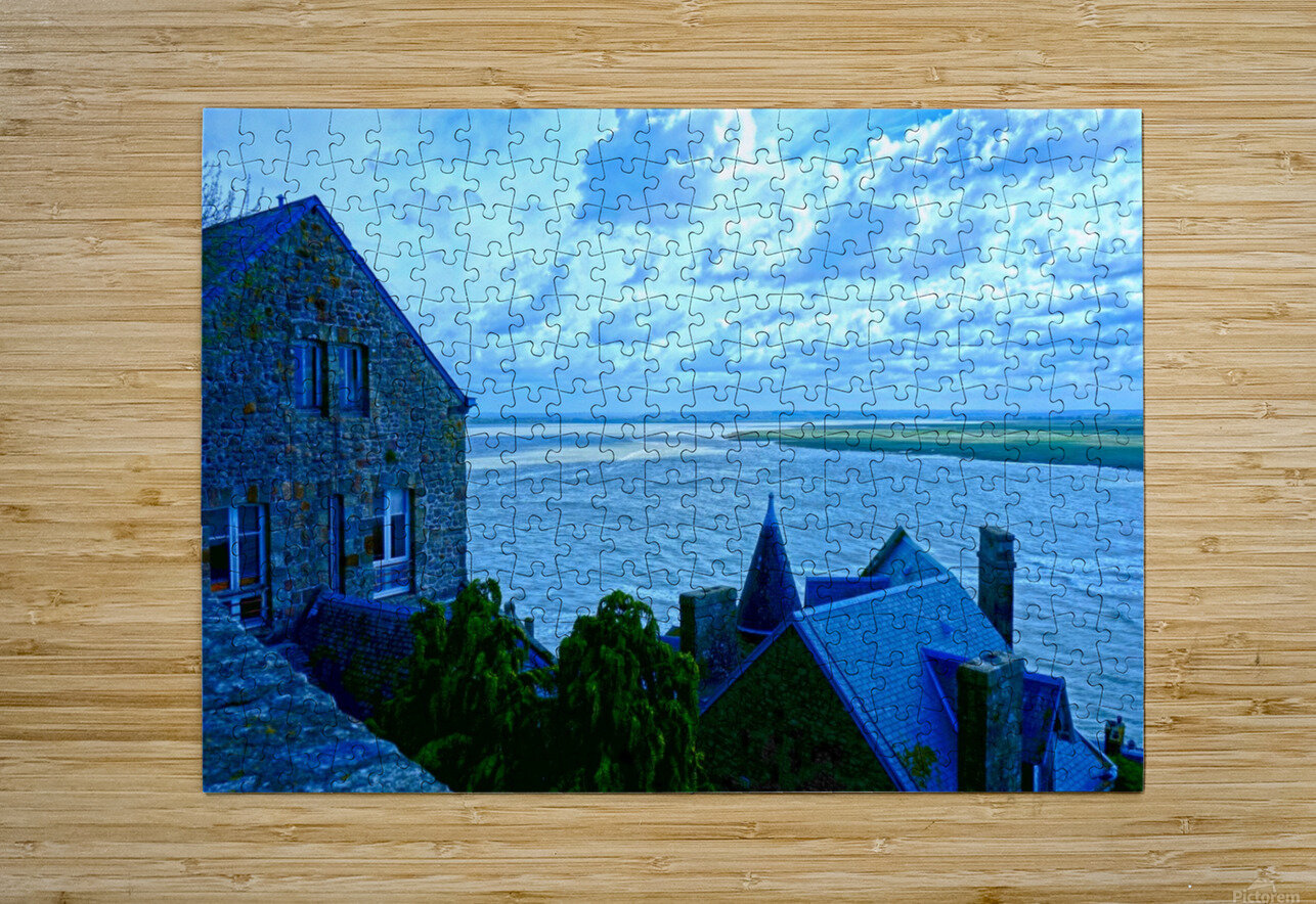 A Day at Mont Saint Michel 11 of 12  HD Metal print with Floating Frame on Back