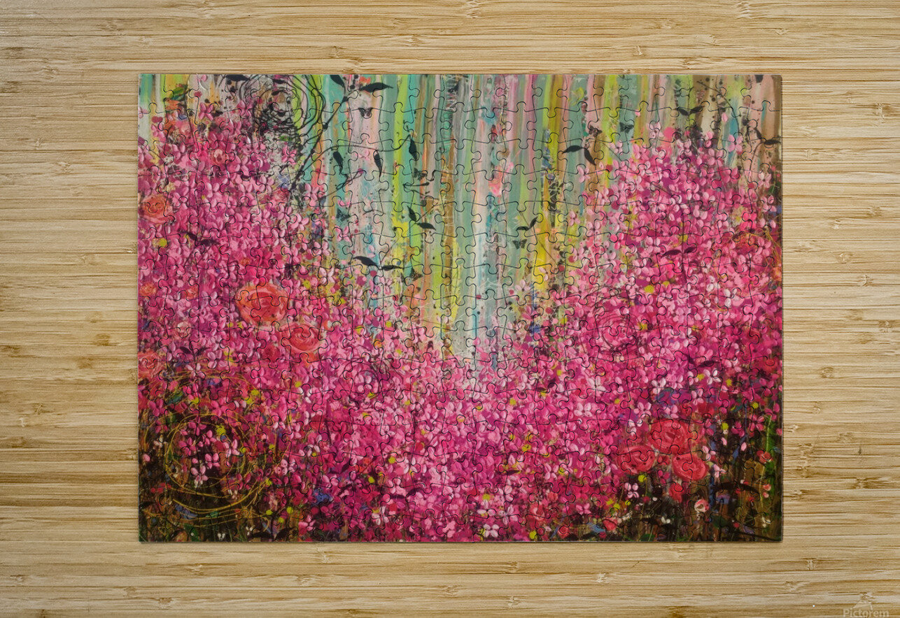 Floral Cascade   HD Metal print with Floating Frame on Back