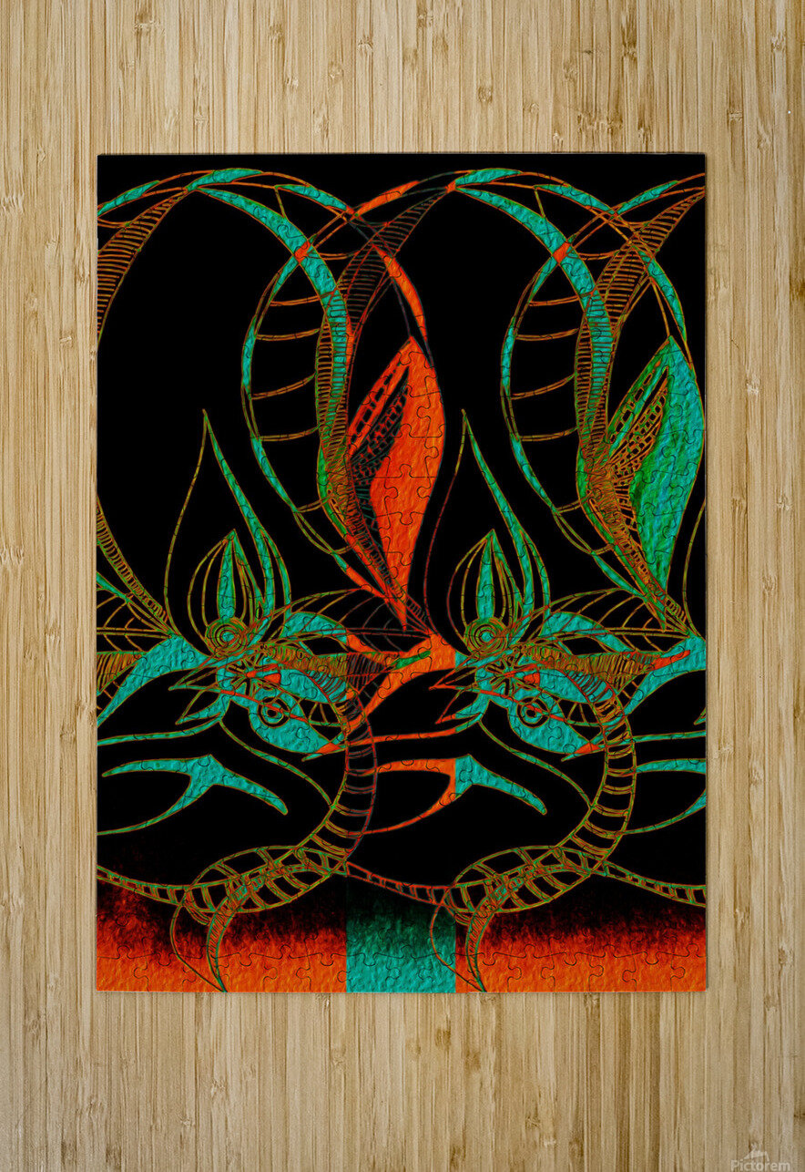 Synchronicit   temporelle  HD Metal print with Floating Frame on Back