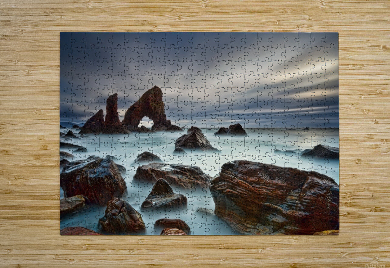 Sea Arch at Crohy Head by Derek Smyth   HD Metal print with Floating Frame on Back