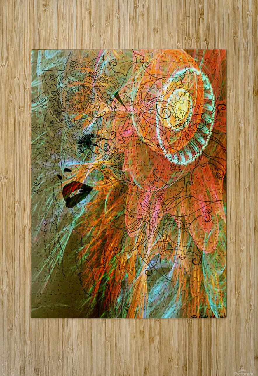 Angel  HD Metal print with Floating Frame on Back