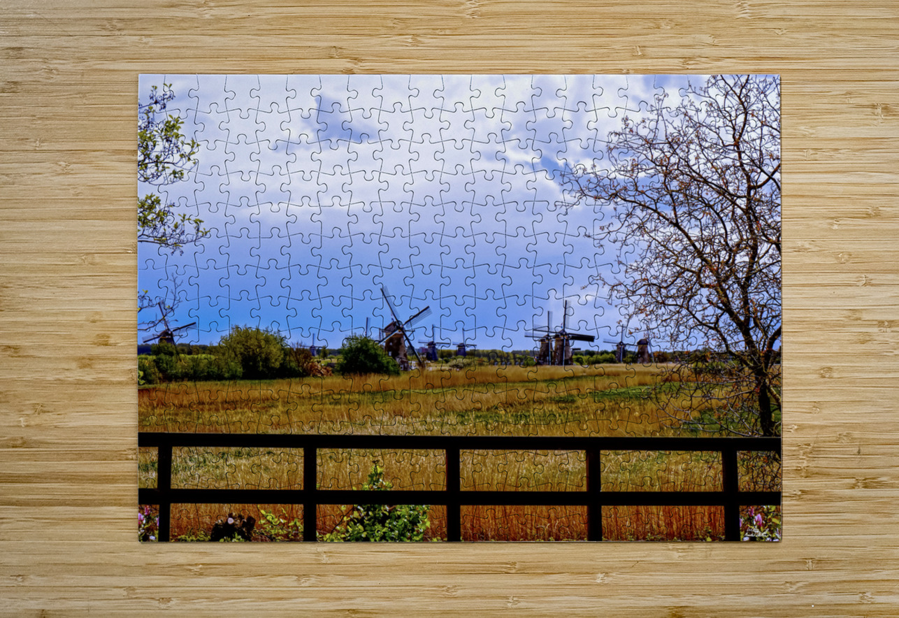 Windmills in Spring  HD Metal print with Floating Frame on Back