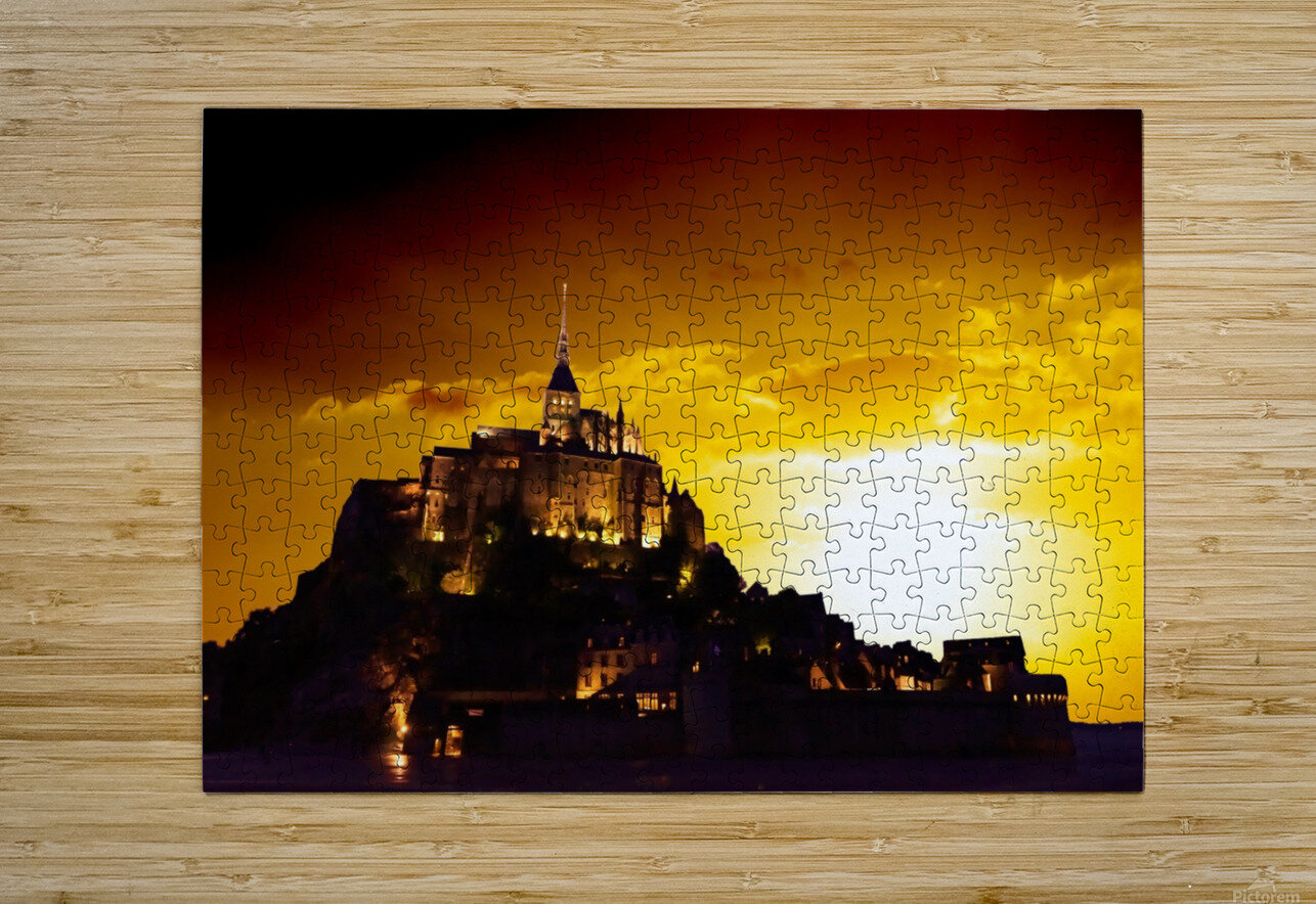 Majestic Mount Saint Michael  HD Metal print with Floating Frame on Back