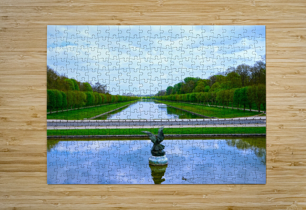 A View for Kings Chateaus of France  HD Metal print with Floating Frame on Back